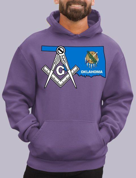 Oklahoma Masonic Hoodie oklahoma purple hoodie