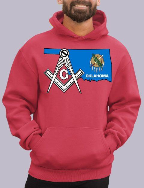 Oklahoma Masonic Hoodie oklahoma red hoodie