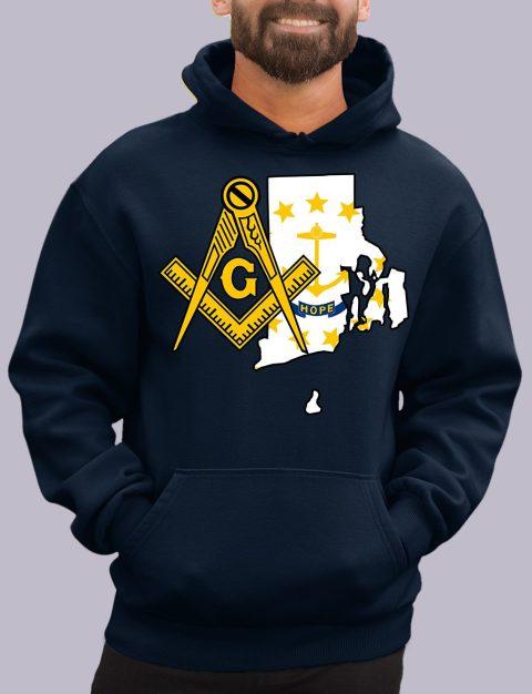 Rhode Island Masonic Hoodie rhode island navy hoodie