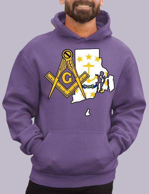 Rhode Island Masonic Hoodie rhode island purple hoodie