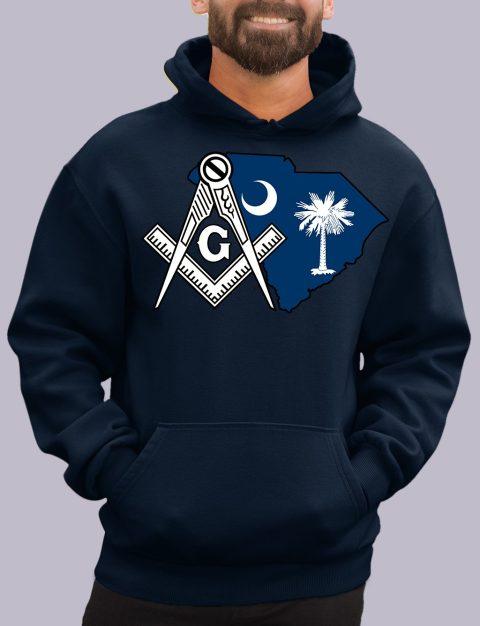 South Carolina Masonic Hoodie south carolina navy hoodie