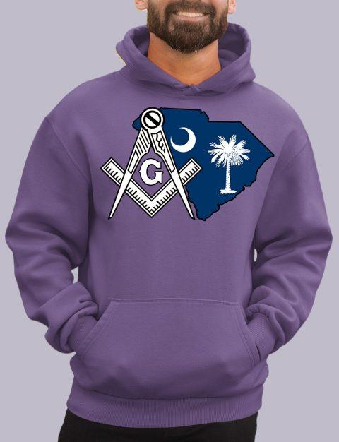 South Carolina Masonic Hoodie south carolina purple hoodie