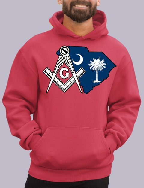 South Carolina Masonic Hoodie south carolina red hoodie