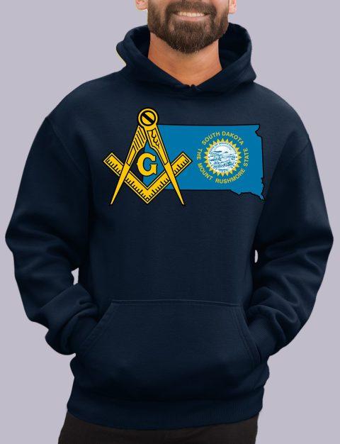 South Dakota Masonic Hoodie south dakota navy hoodie