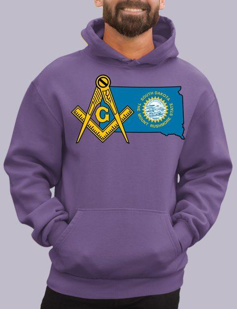 South Dakota Masonic Hoodie south dakota purple hoodie