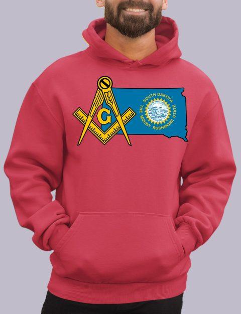 South Dakota Masonic Hoodie south dakota red hoodie
