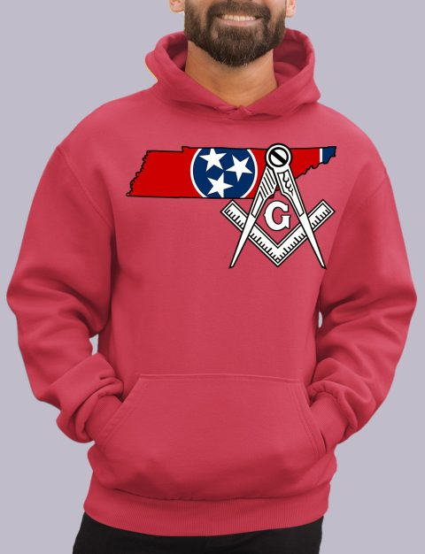 Tennessee Masonic Hoodie tenessee red hoodie