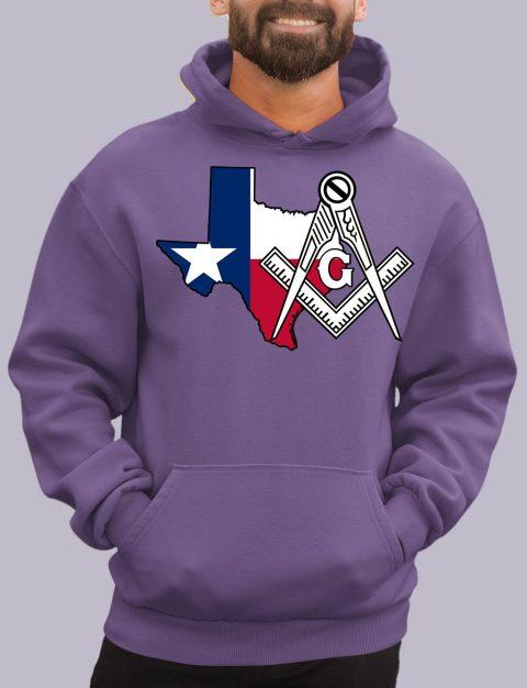 Texas Masonic Hoodie texa purple hoodie