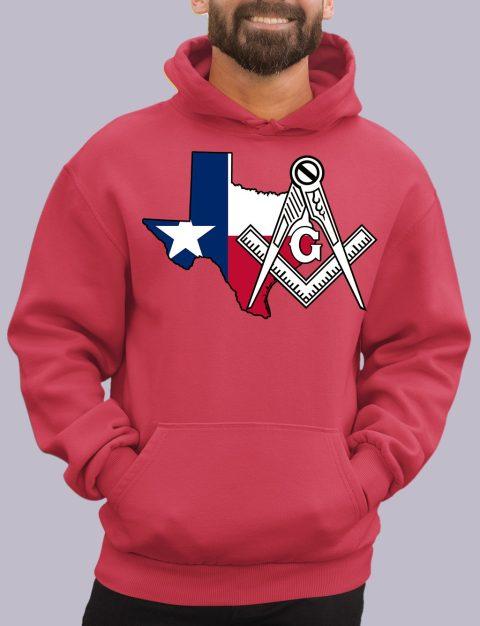 Texas Masonic Hoodie texa red hoodie