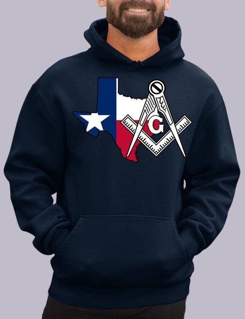Texas Masonic Hoodie texas navy hoodie