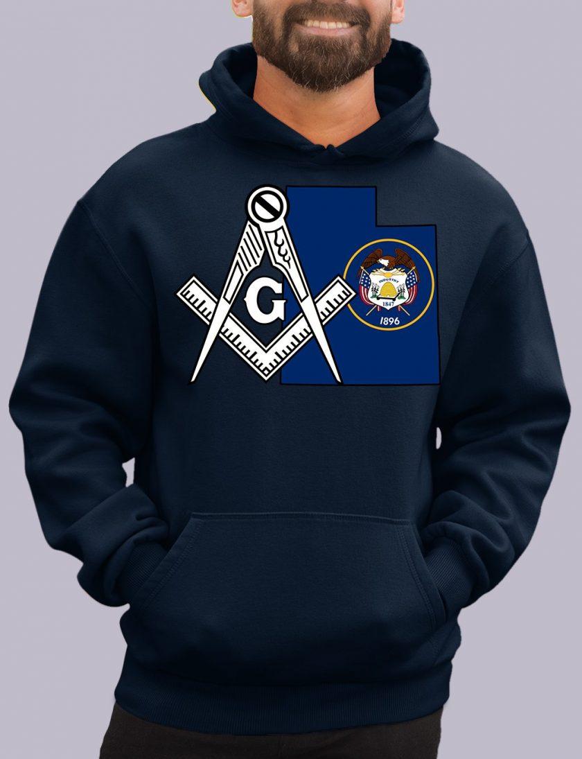 utah navy hoodie