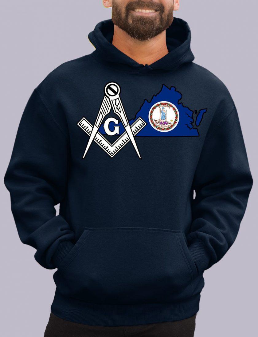 virginia navy hoodie