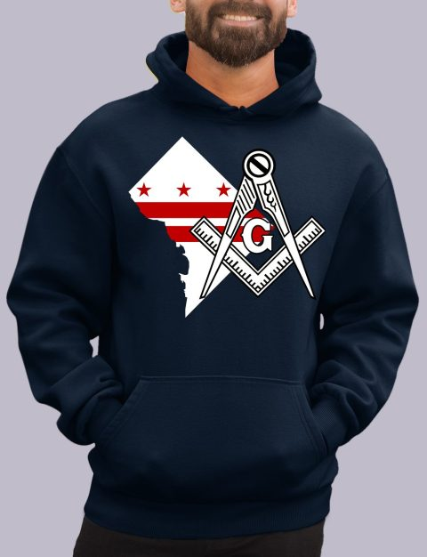 Washington DC Masonic Hoodie washington dc navy hoodie