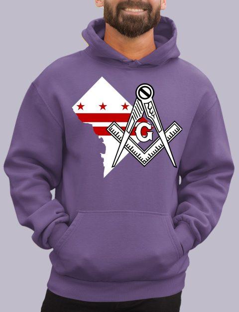 Washington DC Masonic Hoodie washington dc purple hoodie