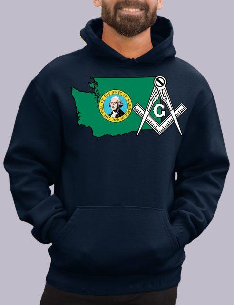 Washington Masonic Hoodie washington navy hoodie