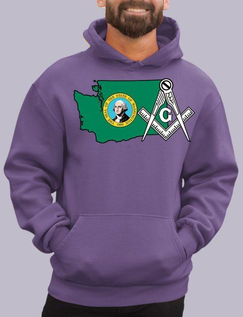 Washington Masonic Hoodie washington purple hoodie