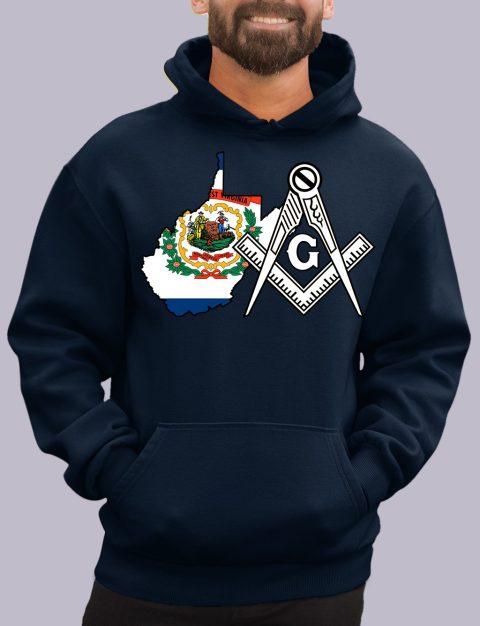West Virginia Masonic Hoodie west virginia navy hoodie