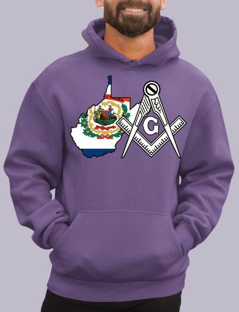 West Virginia Masonic Hoodie west virginia purple hoodie