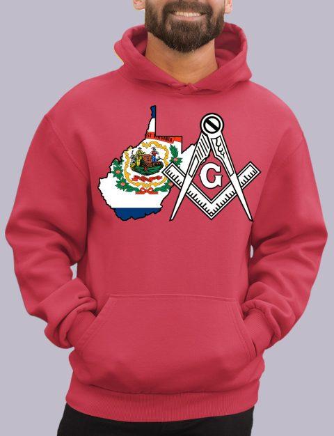 West Virginia Masonic Hoodie west virginia red hoodie