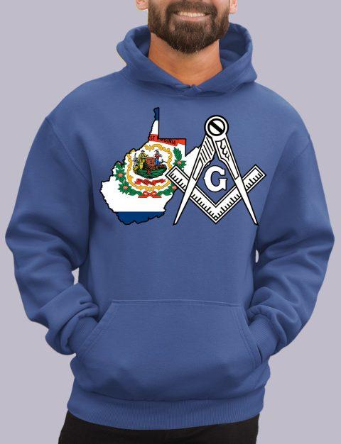 West Virginia Masonic Hoodie west virginia royal hoodie