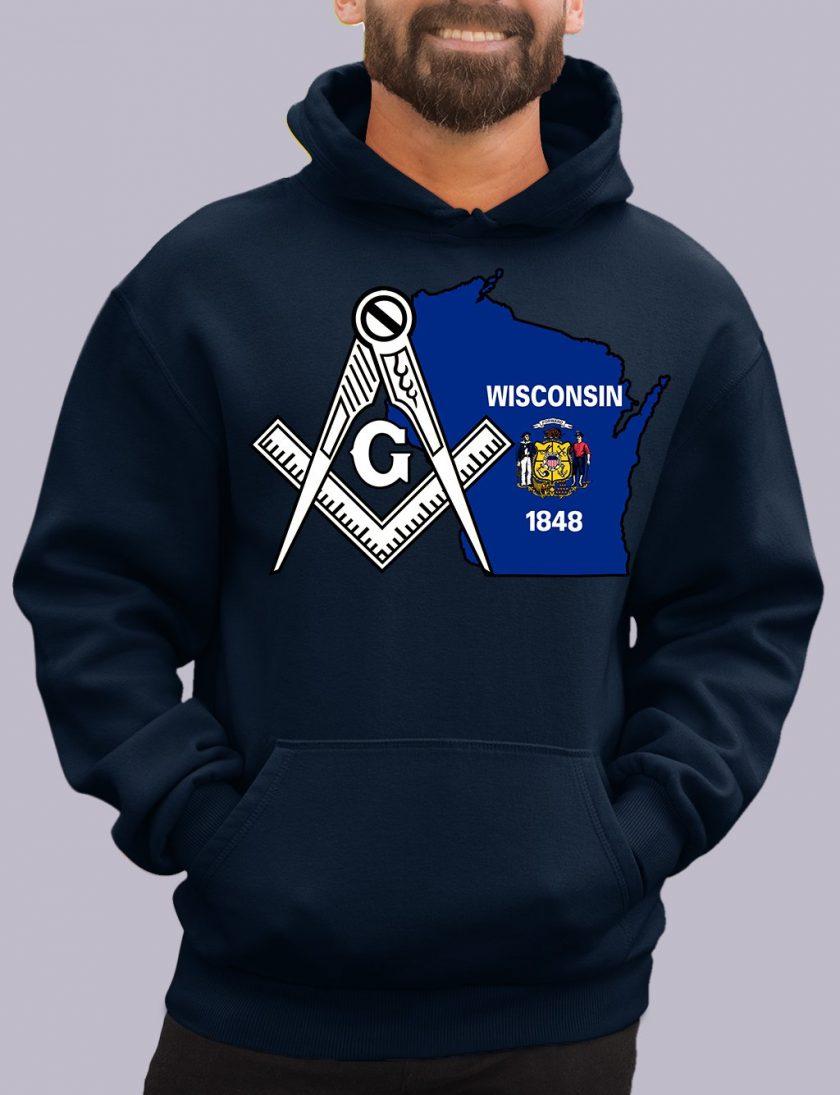 wisconsin navy hoodie
