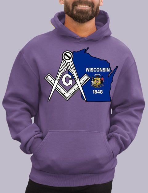 Wisconsin Masonic Hoodie wisconsin purple hoodie
