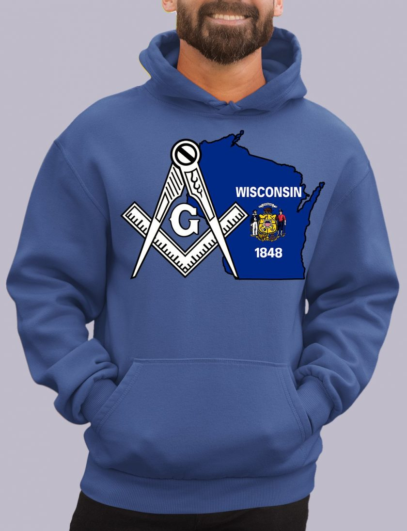 wisconsin royal hoodie