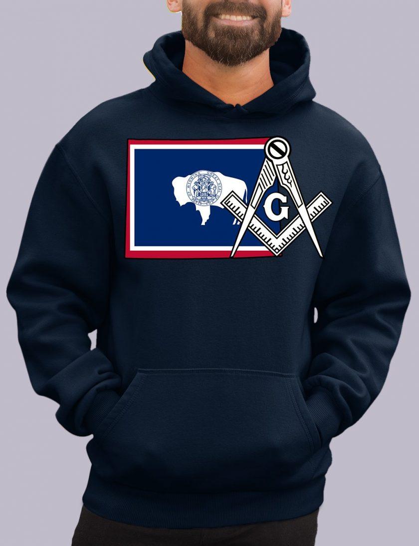 wyoming navy hoodie
