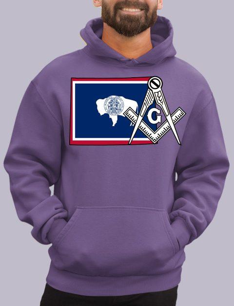 Wyoming Masonic Hoodie wyoming purple hoodie