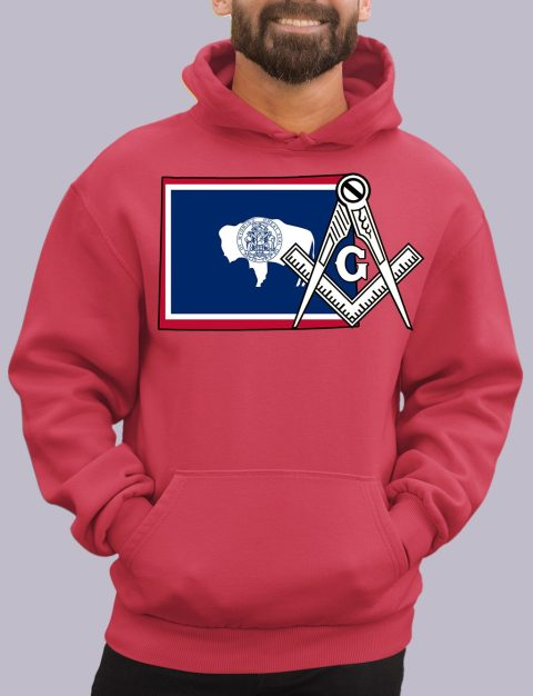 Wyoming Masonic Hoodie wyoming red hoodie