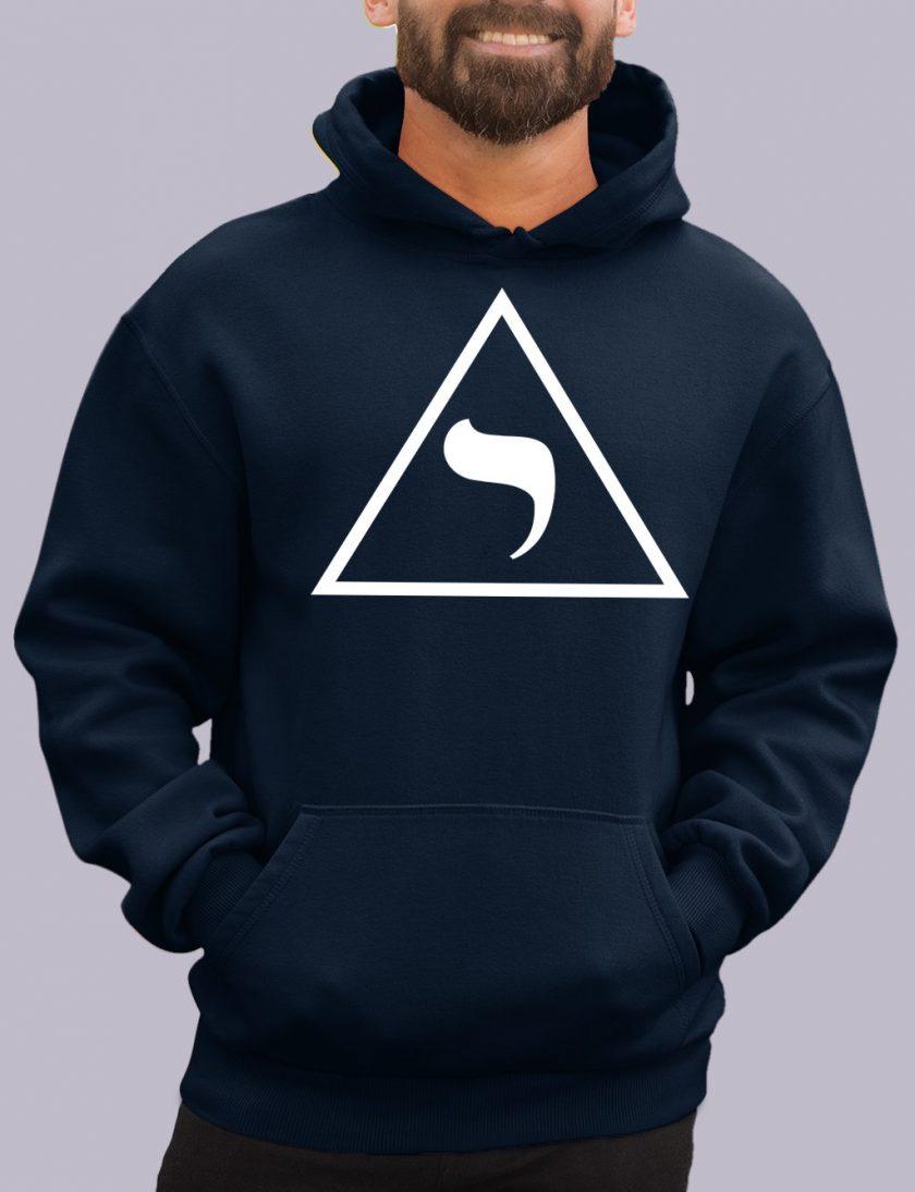 14th degree navy hoodie