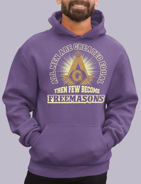 All Men Are Created Equal Masonic Hoodie all men purple hoodie