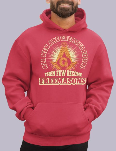 All Men Are Created Equal Masonic Hoodie all men red hoodie