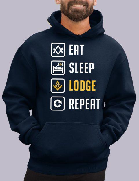 Eat Sleep Lodge Repeat Masonic Hoodie eat sleep navy hoodie