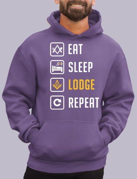 Eat Sleep Lodge Repeat Masonic Hoodie eat sleep purple hoodie