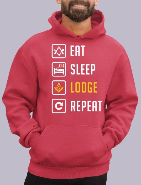 Eat Sleep Lodge Repeat Masonic Hoodie eat sleep red hoodie