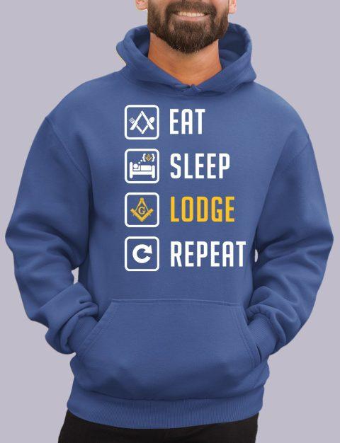 Eat Sleep Lodge Repeat Masonic Hoodie eat sleep royal hoodie