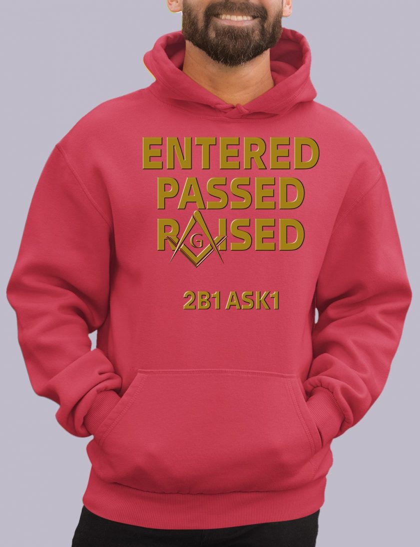 enter passed red hoodie