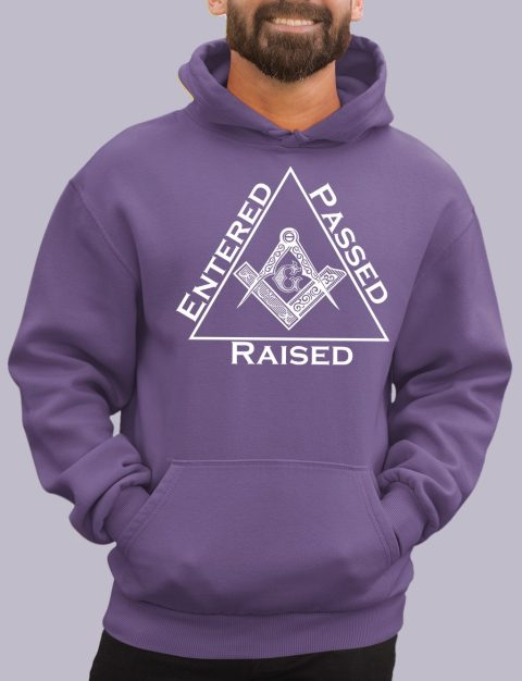 Entered Passed Raised Masonic Hoodie entered purple hoodie