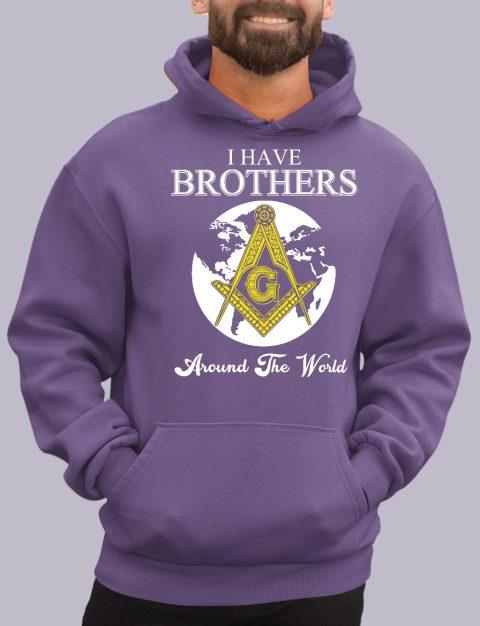 I Have Brothers Around The World Masonic Hoodie i have brothers purple hoodie