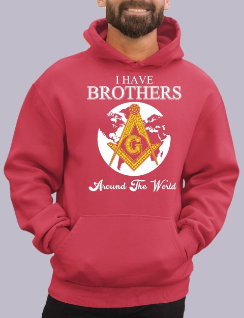 I Have Brothers Around The World Masonic Hoodie i have brothers red hoodie