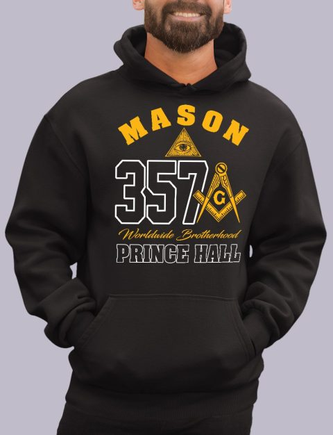 Mason 357 Prince Hall Masonic Hoodie mason 357 ph black hoodie 1