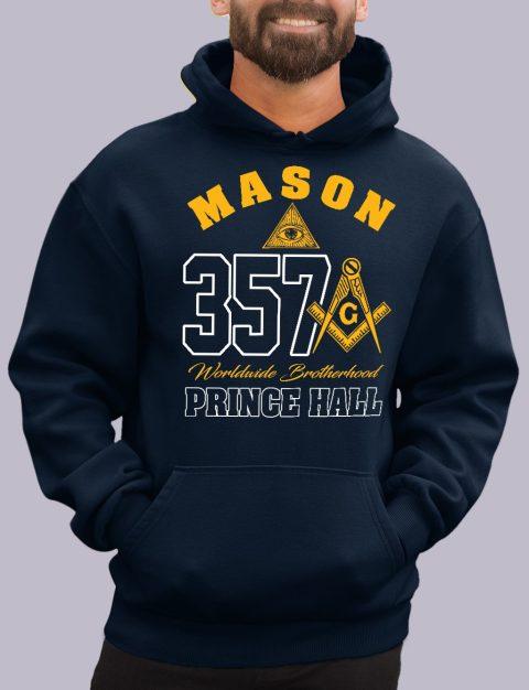 Mason 357 Prince Hall Masonic Hoodie mason 357 ph navy hoodie