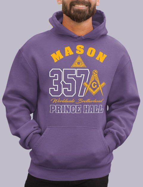 Mason 357 Prince Hall Masonic Hoodie mason 357 ph purple hoodie