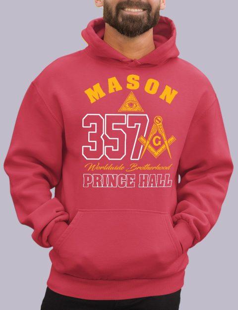 Mason 357 Prince Hall Masonic Hoodie mason 357 ph red hoodie