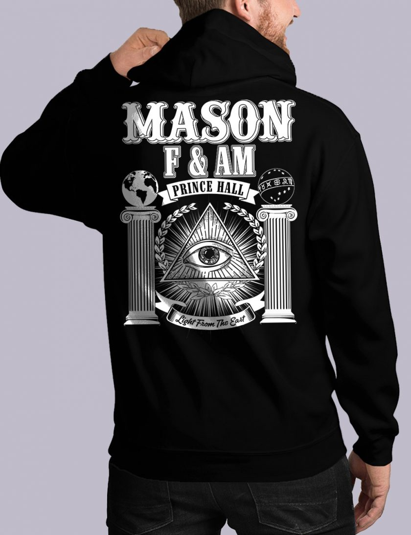 masonic fam back black hoodie