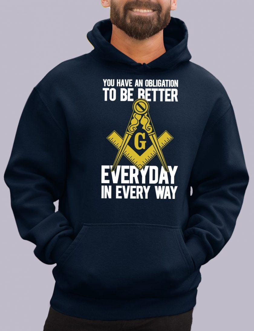 obligation navy hoodie