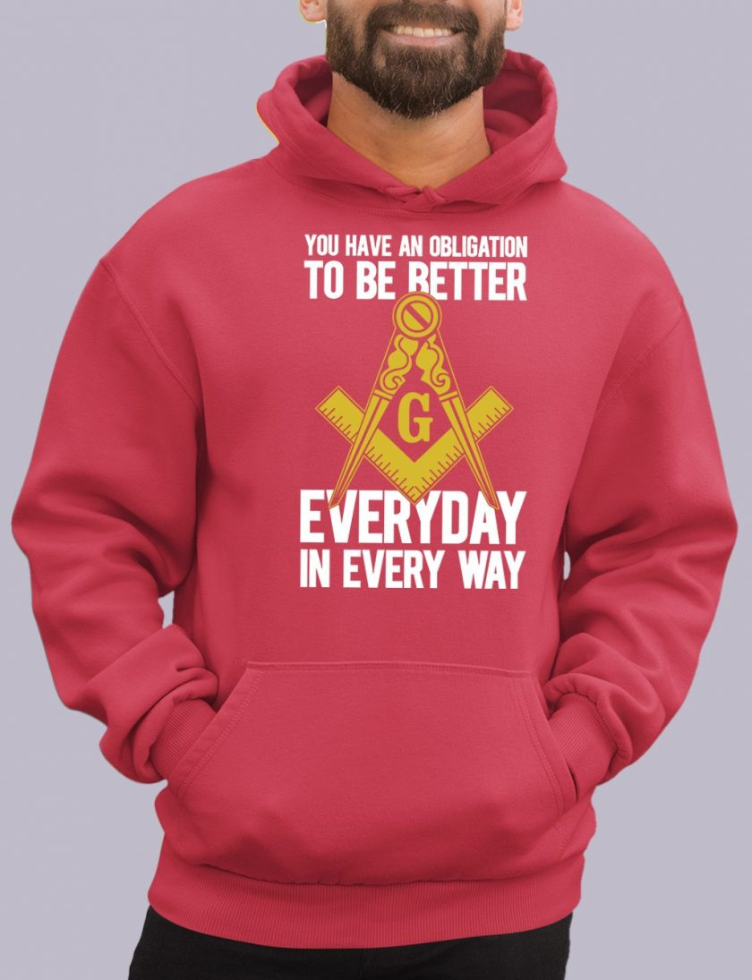 obligation red hoodie