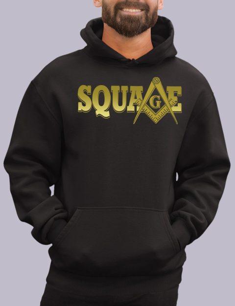Square Masonic Hoodie square black hoodie 1