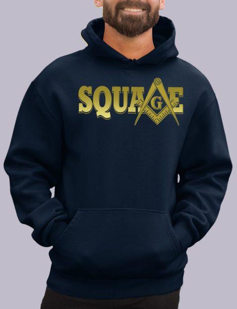 Square Masonic Hoodie square navy hoodie